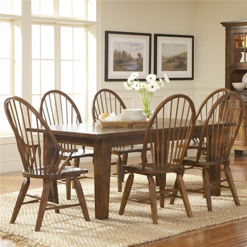 Broyhill Furniture Attic Rustic 7Pc Dining Room