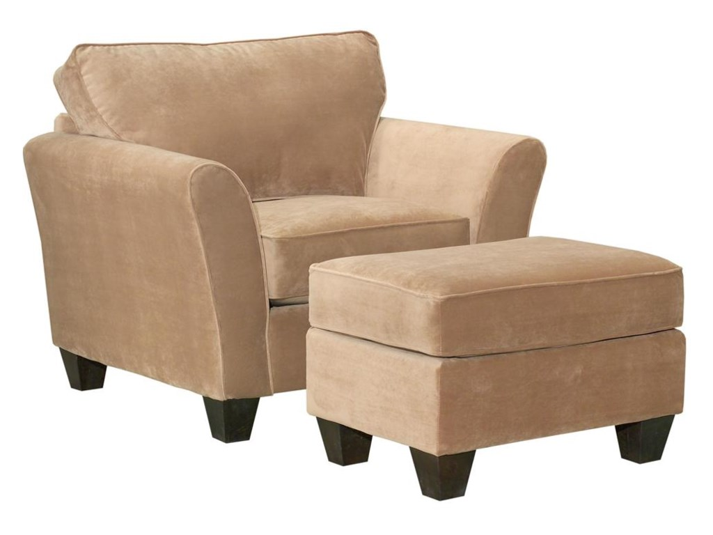 Broyhill Furniture MaddieContemporary Style Chair and Ottoman