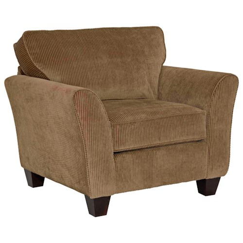 Broyhill Furniture Maddie Contemporary Style Chair with Flared Arms