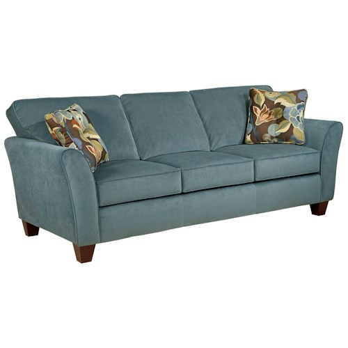 Broyhill Furniture Maddie Contemporary Style Sofa with Flared Arms