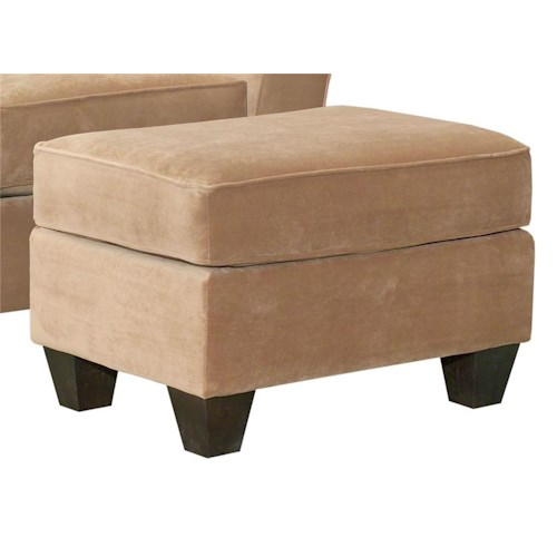Broyhill Furniture Maddie Contemporary Style Ottoman with Exposed Wood Feet