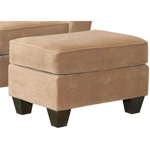 broyhill furniture maddie contemporary style ottoman with exposed