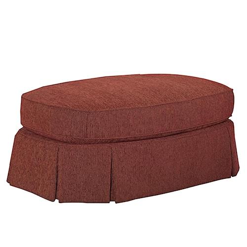 Broyhill Furniture McKinney Skirted Oval Ottoman