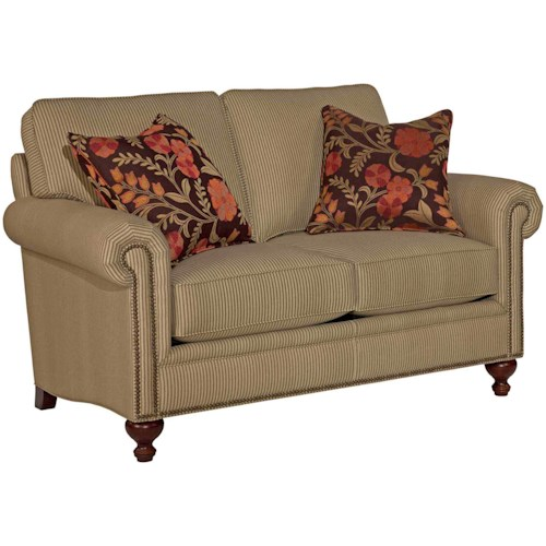 Broyhill Furniture Harrison Traditional Loveseat with Nail Head Trim