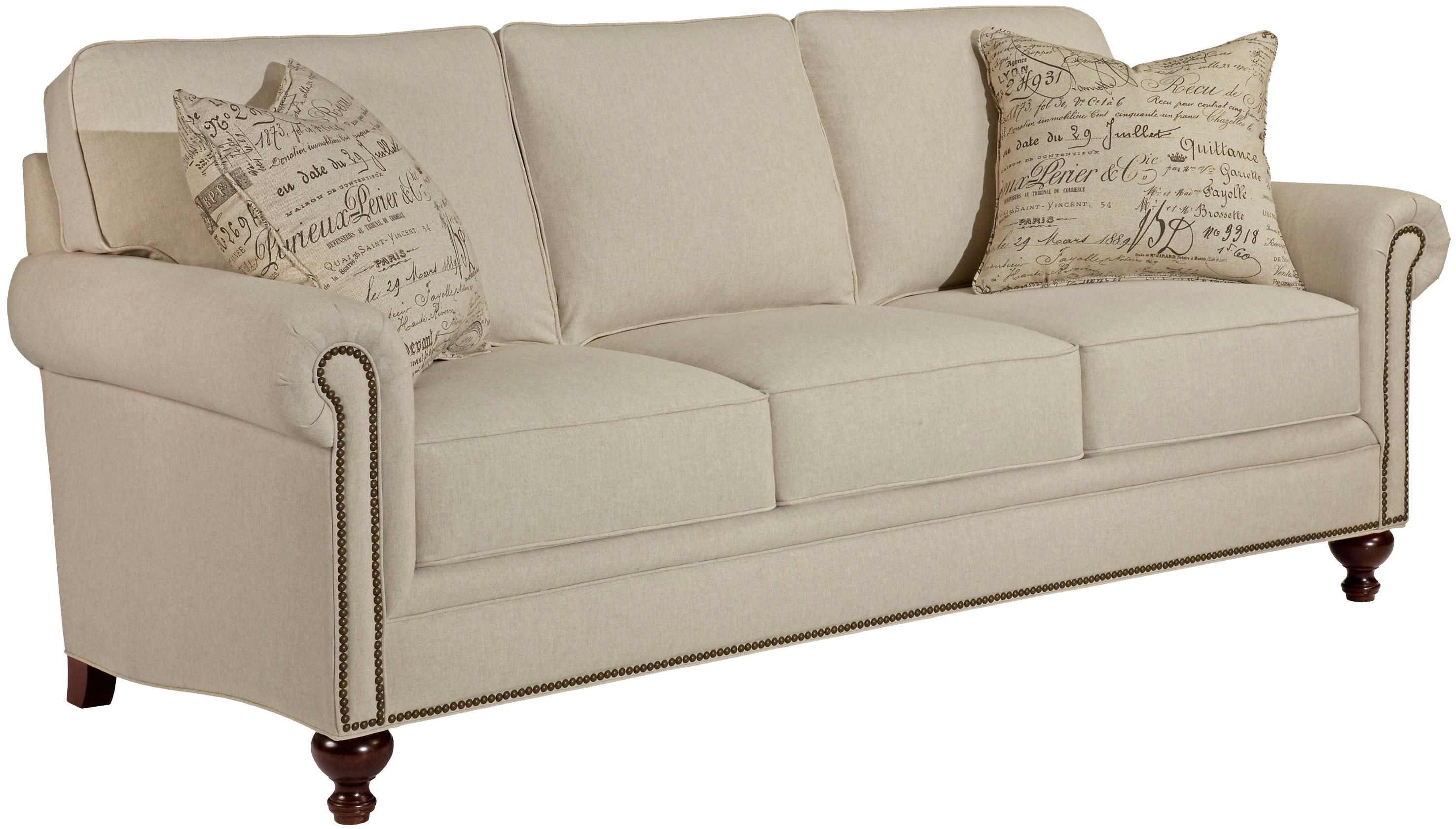 Incroyable Broyhill Furniture Harrison Traditional Style Sofa With Exposed Wood Feet