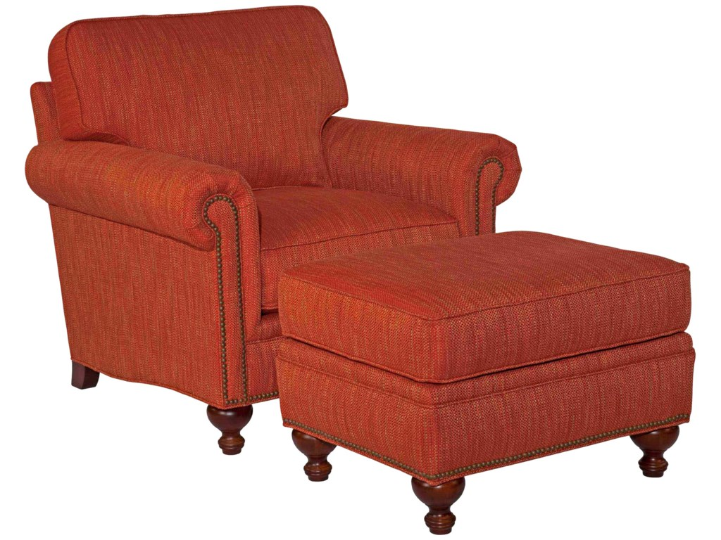 Ottoman Shown with Chair and Sofa