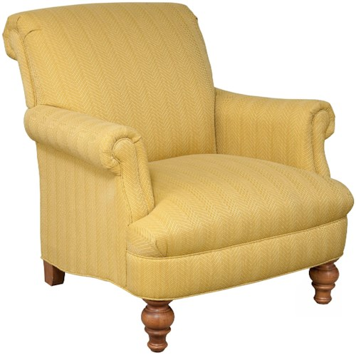 Broyhill Furniture Lenora Traditional Style Chair with Rolled Back and Arms