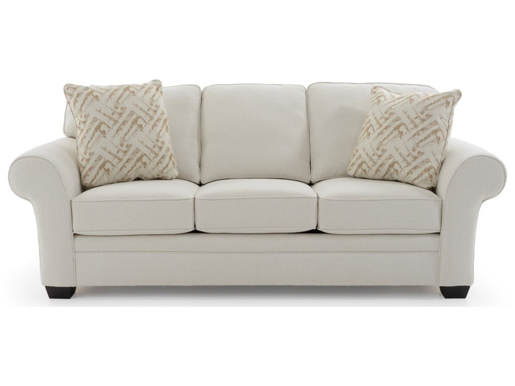 Broyhill Furniture Zachary 7902-3 Upholstered Stationary Sofa ...
