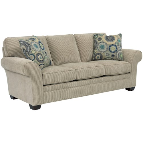 Broyhill Furniture Zachary Queen IREST Sleeper with Rolled Arms