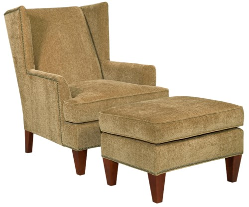 Lovely Broyhill Furniture Accent Chairs and Ottomans Lauren Contemporary Wing Chair and Ottoman with Brass Nail Head HD - New accent chair and ottoman set Elegant