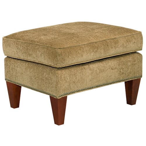 Broyhill Furniture Accent Chairs and Ottomans  Lauren Ottoman with Brass Nail Head Trim