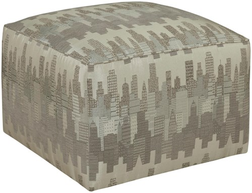 Broyhill Furniture Ottomans Chloe Contemporary Cube Ottoman