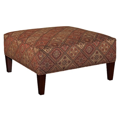 Broyhill Furniture Ottomans Robson Contemporary Square Cocktail Ottoman