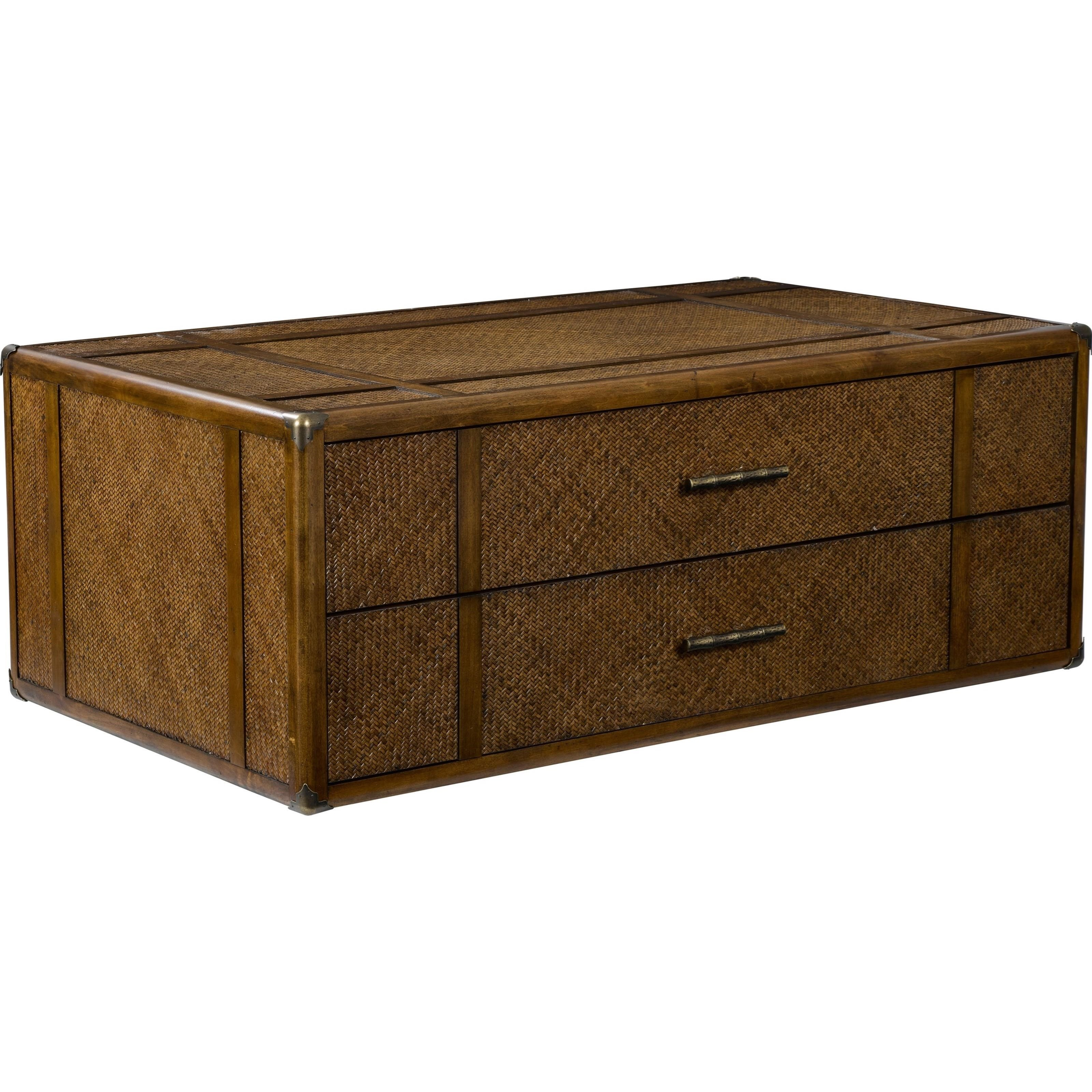 Broyhill Furniture Amalie Bay Fully Padded Raffia Trunk Cocktail Table
