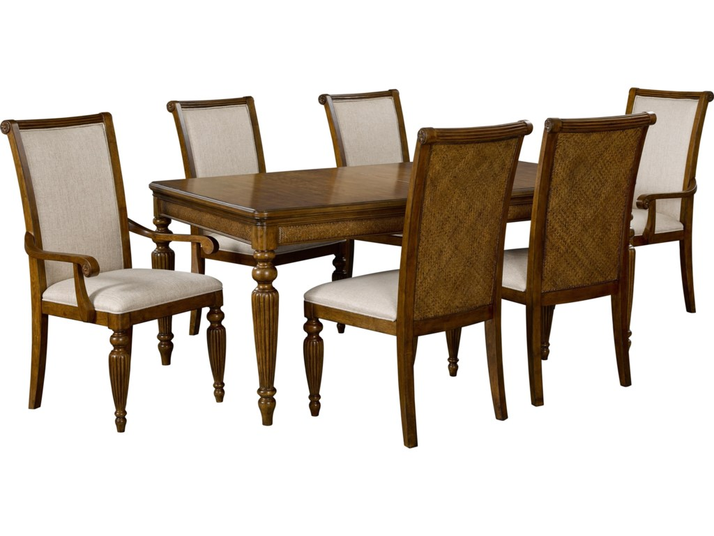 Broyhill Furniture Amalie Bay7 Piece Table and Chair Set
