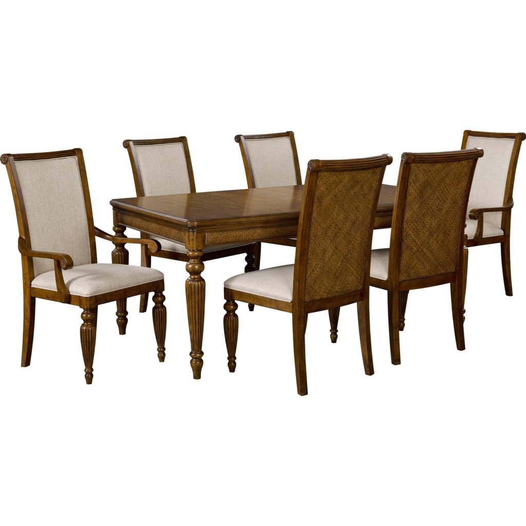 broyhill furniture amalie bay 4548-542 leg dining table with turned