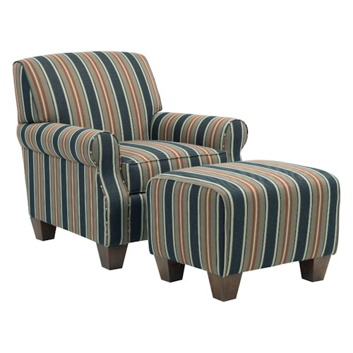 Broyhill Furniture Anya Transitional Chair and Ottoman Set