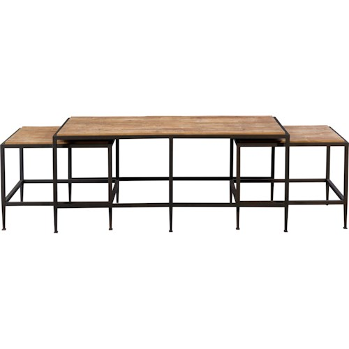 Broyhill Furniture Ariana Nesting Cocktail Table with Repurposed Tops