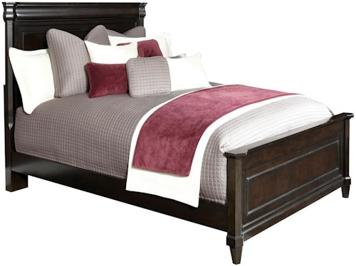 Broyhill Furniture Aryell King Panel Bed with Faceted Posts