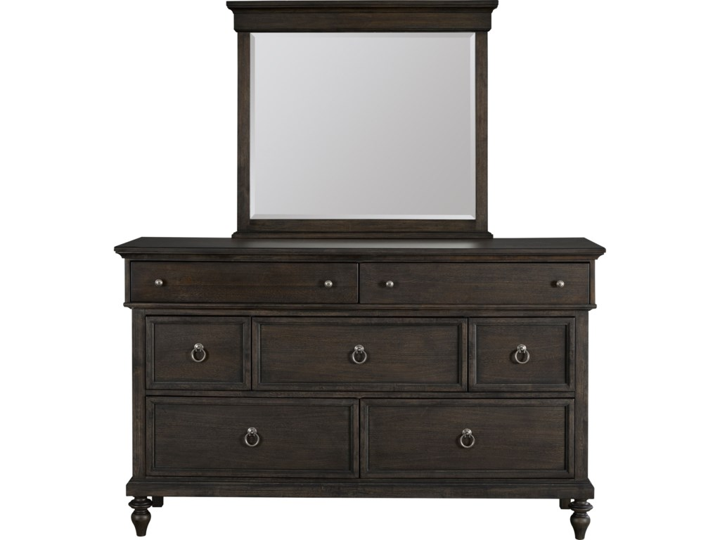 Broyhill Furniture AshgroveDresser and Mirror Combo