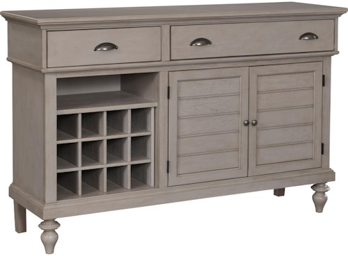 Broyhill Furniture Ashgrove Cottage Buffet with Removable Wine Rack