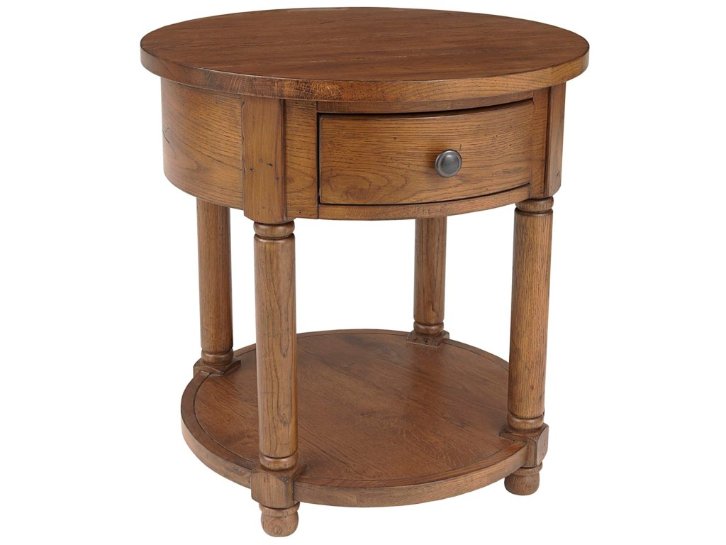 Broyhill Furniture Attic Heirlooms Round End Table With