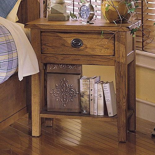 Broyhill Furniture Attic Heirlooms Nightstand with 1 Drawer and 1 Shelf