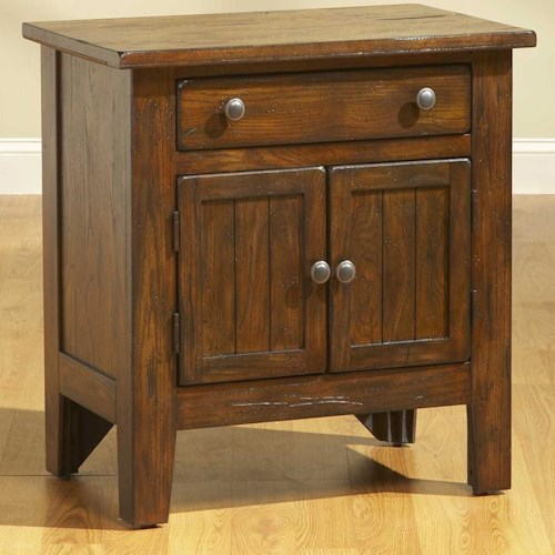 Broyhill Furniture Attic Rustic Door Night Stand