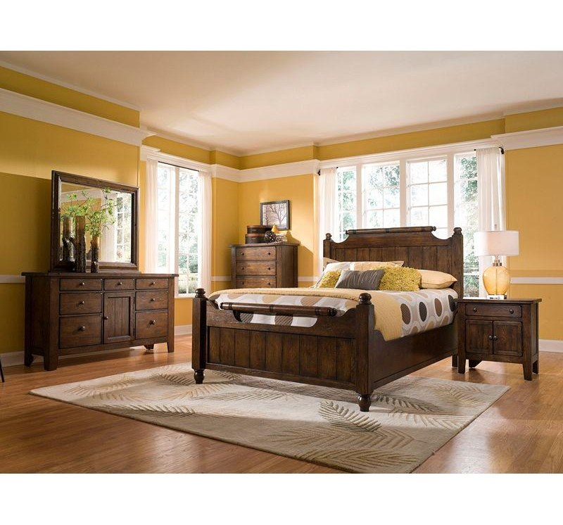 Shown with Panel Bed, Chest, Door Dresser and Mirror