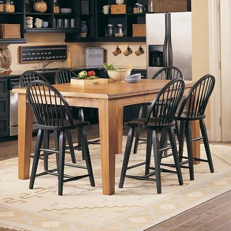 Beau Broyhill Furniture Attic Heirlooms Counter Height 7 Piece Dining Set