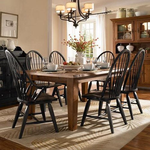 Broyhill Furniture Attic Heirlooms 7 Piece Dining Set - Wayside ...