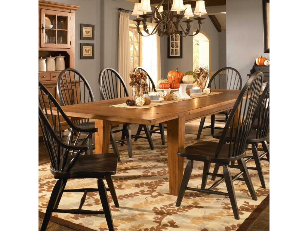 Broyhill Furniture Attic Heirlooms Leg Dining Table With Leaves Find Your Furniture Dining Tables