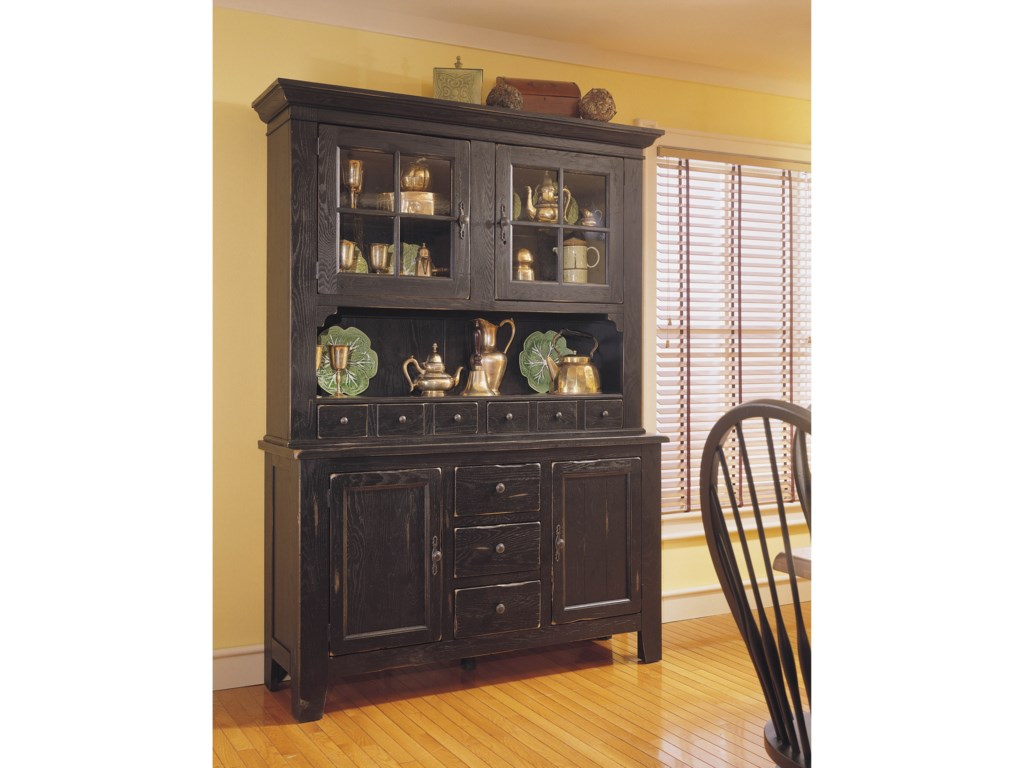 Broyhill Furniture Attic Heirlooms China Hutch And Base With Built In Lighting Find Your Furniture China Cabinets