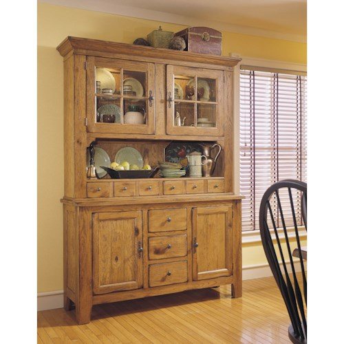 Broyhill Furniture Attic Heirlooms China Hutch and Base with Built ...