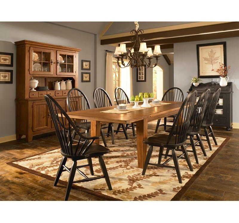 Shown with Rectangular Leg Table, Windsor Side Chairs and Buffet and Hutch