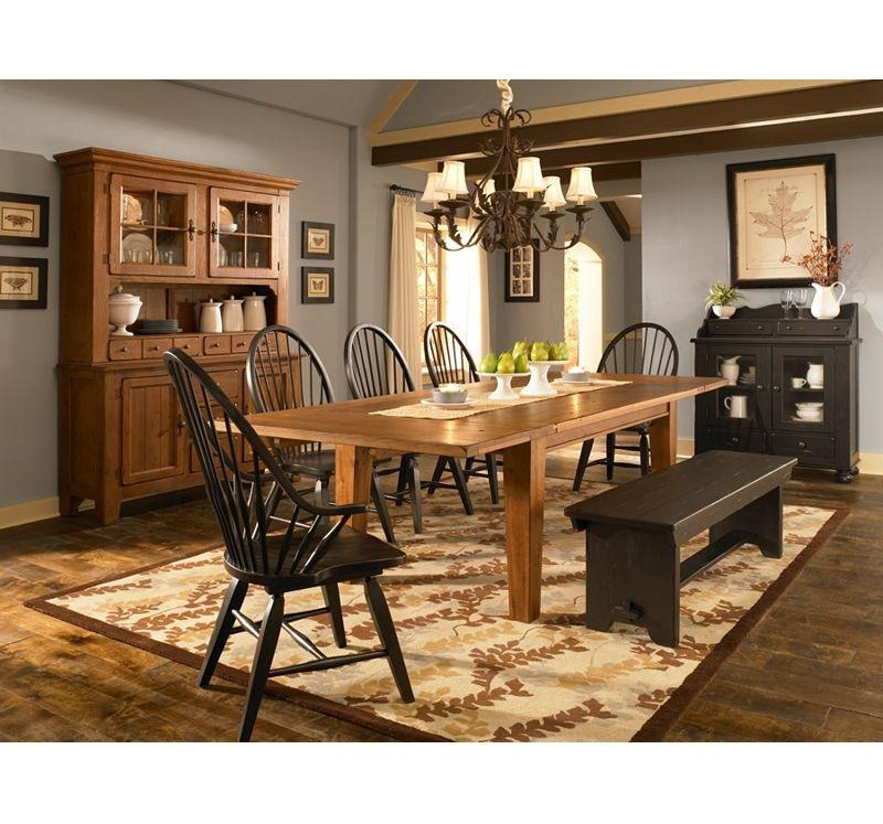 Shown with Rectangular Leg Table, Windsor Side Chairs, Bench and Buffet/Hutch