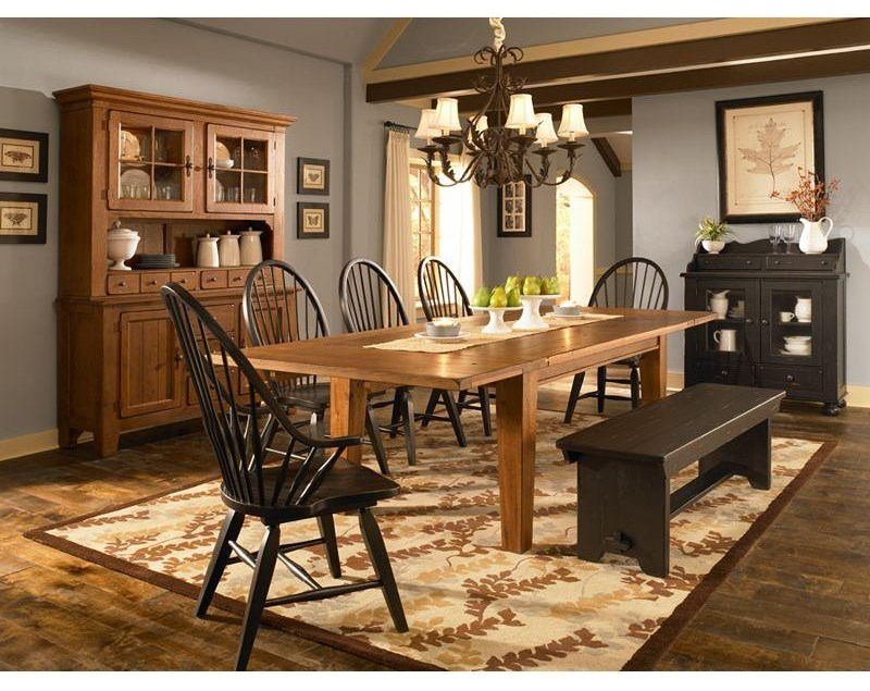 Shown with Rectangular Leg Table, Windsor Arm Chair, Bench and Buffet/Hutch