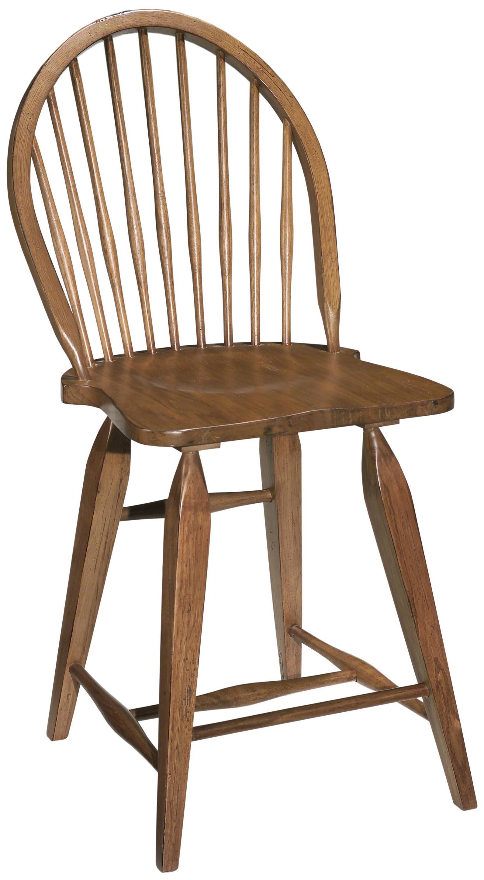 Broyhill Furniture Attic Heirlooms Windsor Counter Stool   Pedigo Furniture    Bar Stools