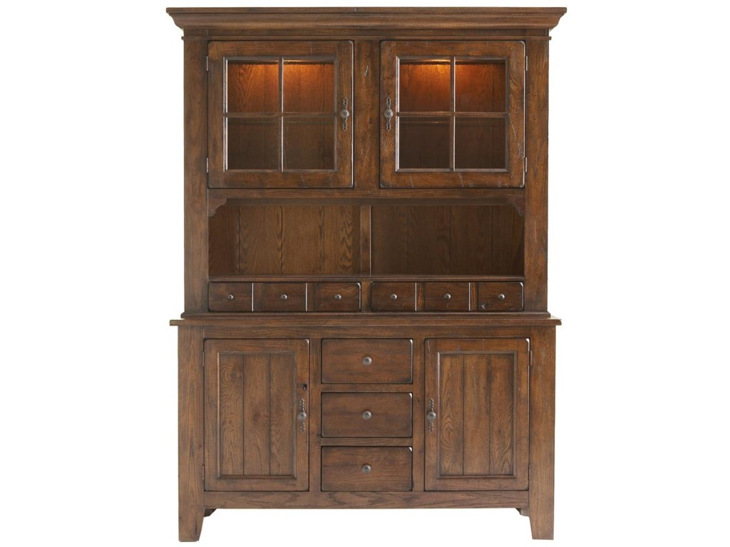 Broyhill furniture attic rusticdining china cabinet