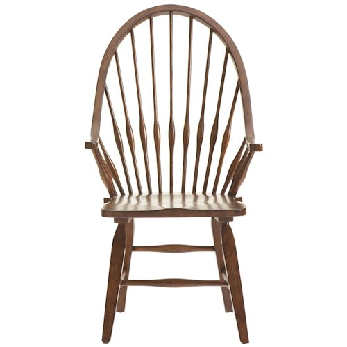 Broyhill Furniture Attic Rustic Windsor Arm Chair