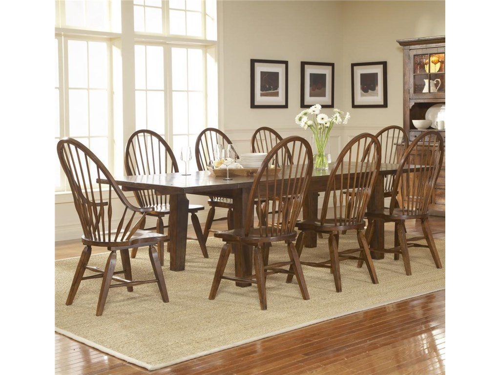 Shown With Windsor Chairs and Leg Dining Table