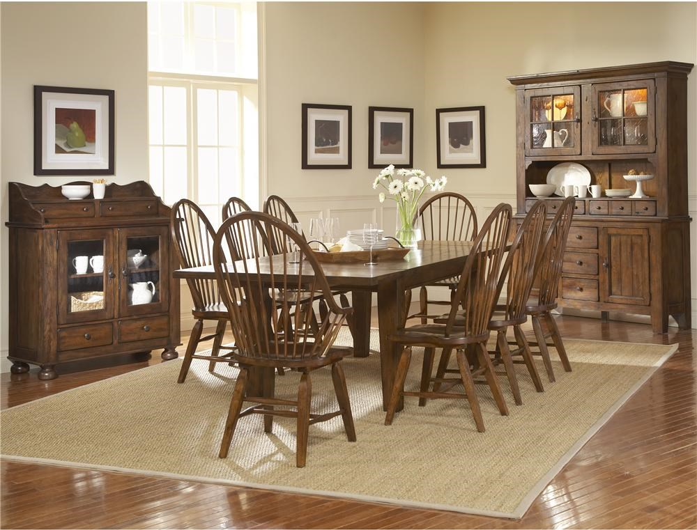 Shown With Dining Chest, Windsor Arm Chairs, Leg Dining Table, and China Base With Deck