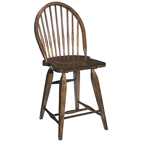 Broyhill Furniture Attic Rustic Windsor Counter Stool