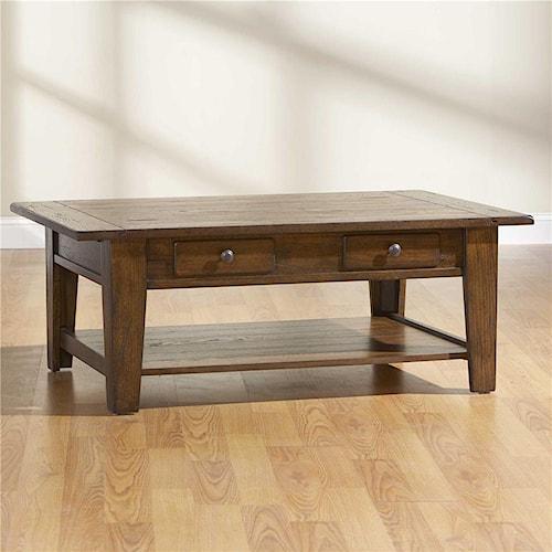 Broyhill Furniture Attic Rustic Rectangular Cocktail Table