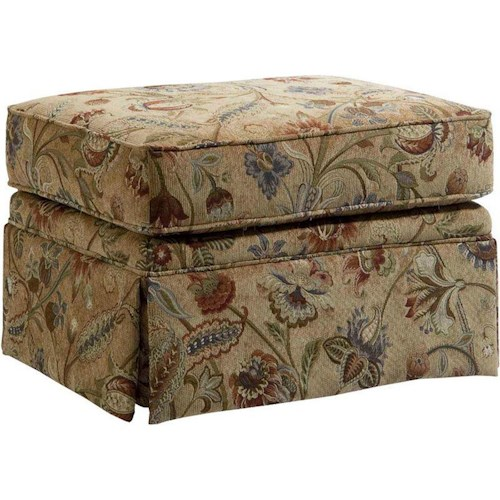 Broyhill Furniture Audrey Ottoman with Skirt