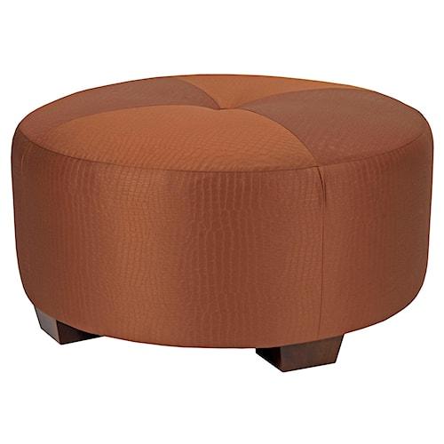 Broyhill Furniture Bachmann Contemporary Round Ottoman