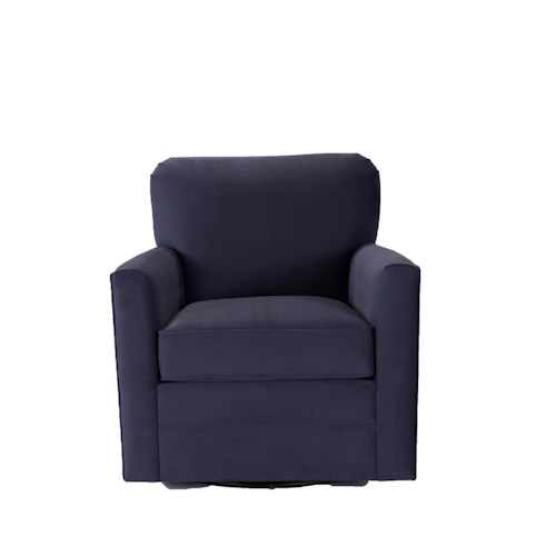 Broyhill Furniture Becks Transitional Swivel Chair with Tight Seat Back
