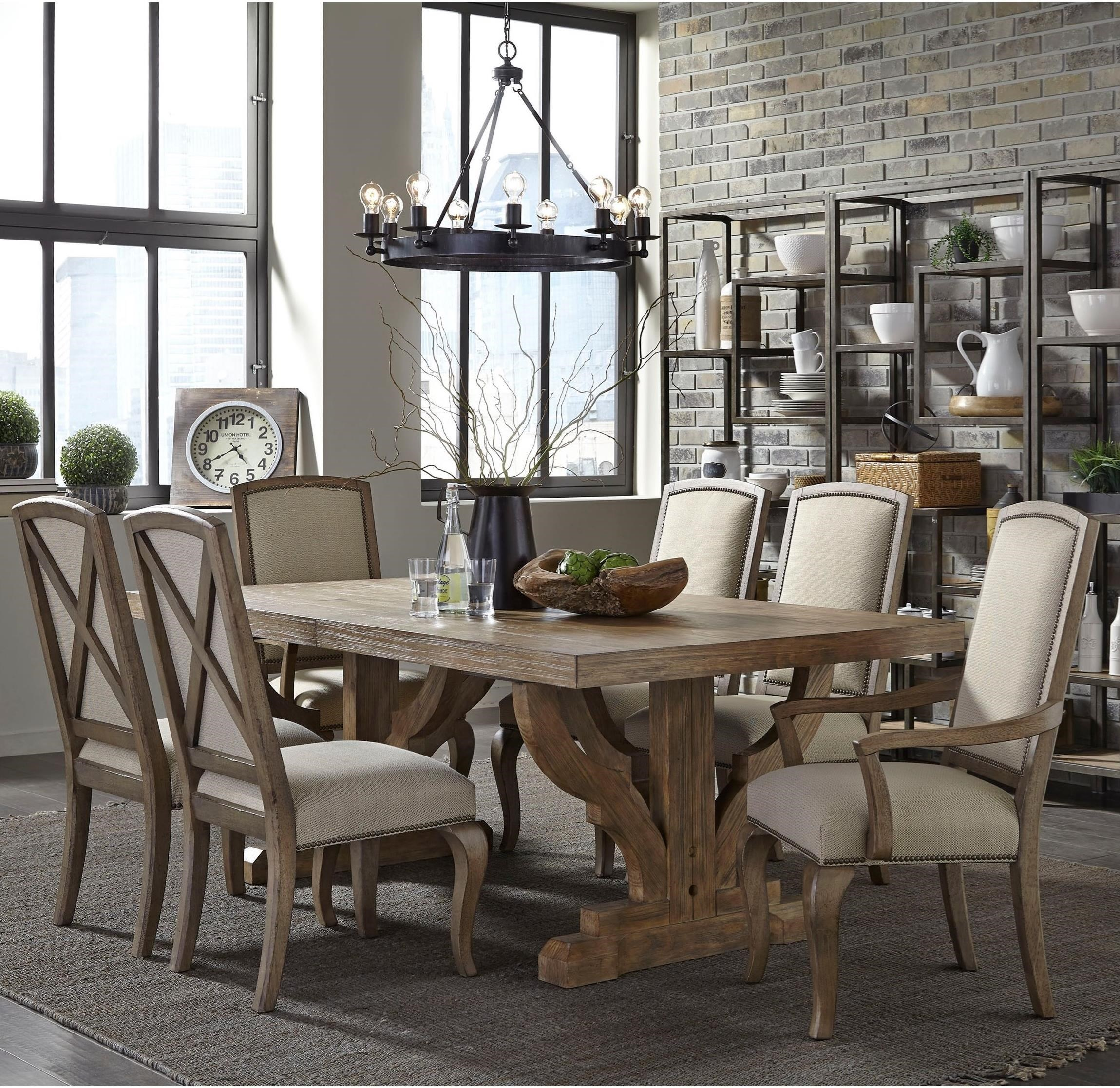 dining room tables with upholstered chairs. broyhill furniture bedford avenue 7 piece double pedestal table and upholstered chair set - baer\u0027s dining (or more) sets room tables with chairs l