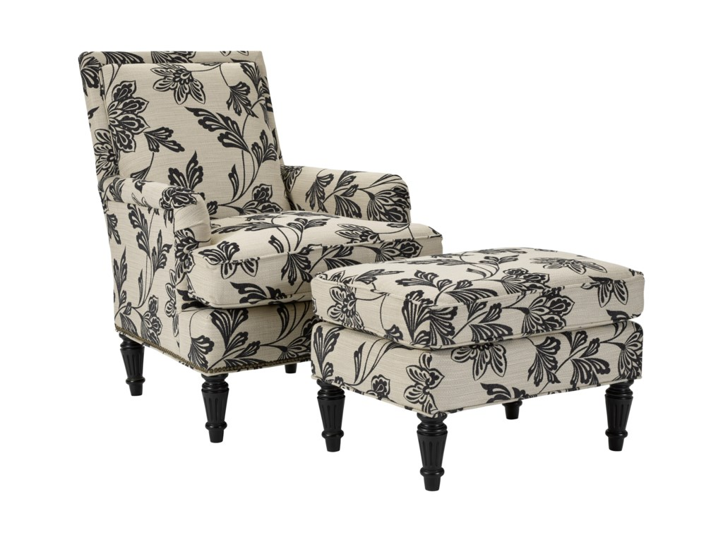 Broyhill Furniture BeliciaChair and Ottoman