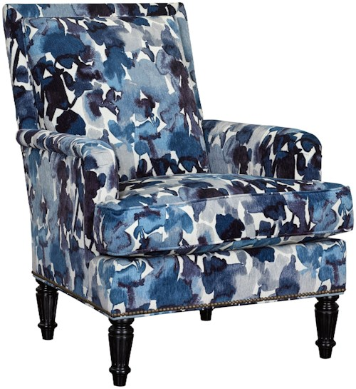 Broyhill Furniture Belicia Accent Chair with Turned Wood Legs